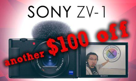 $100 OFF SONY ZV-1!