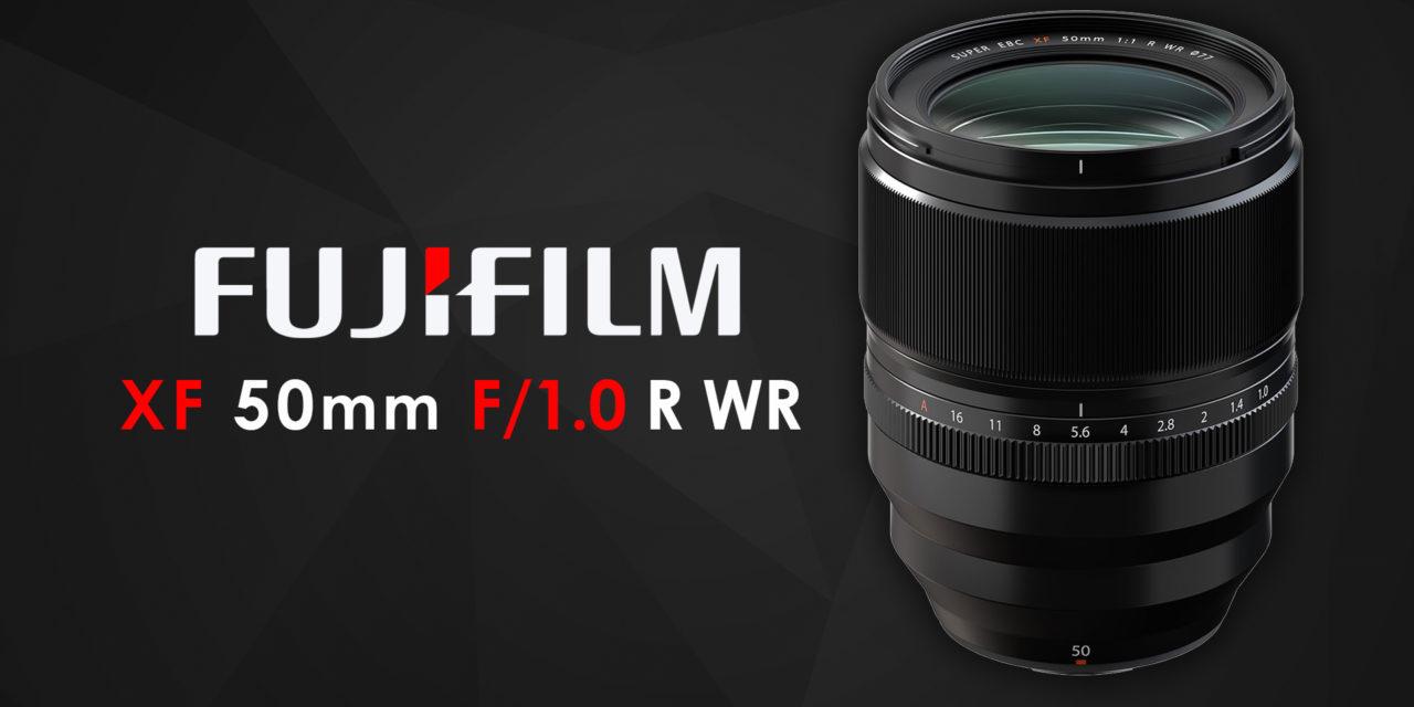 The Fujifilm XF 50mmF1.0 R WR