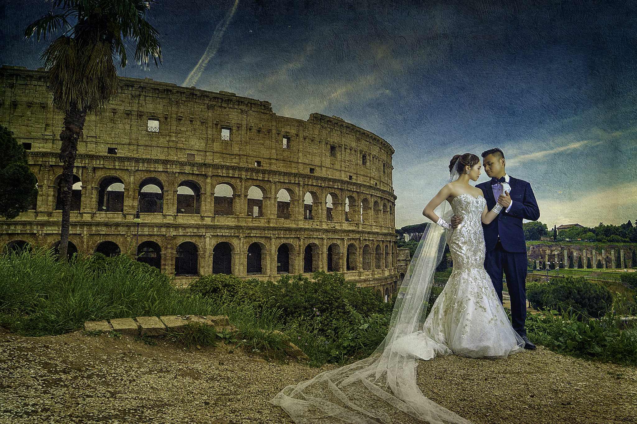 Rome Italy PreWedding Textured