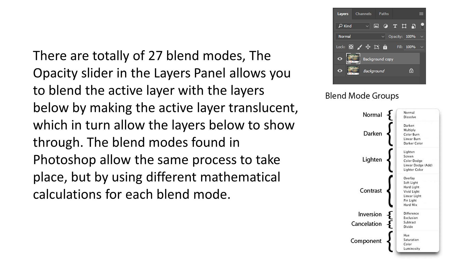 Adobe Photoshop blending mode