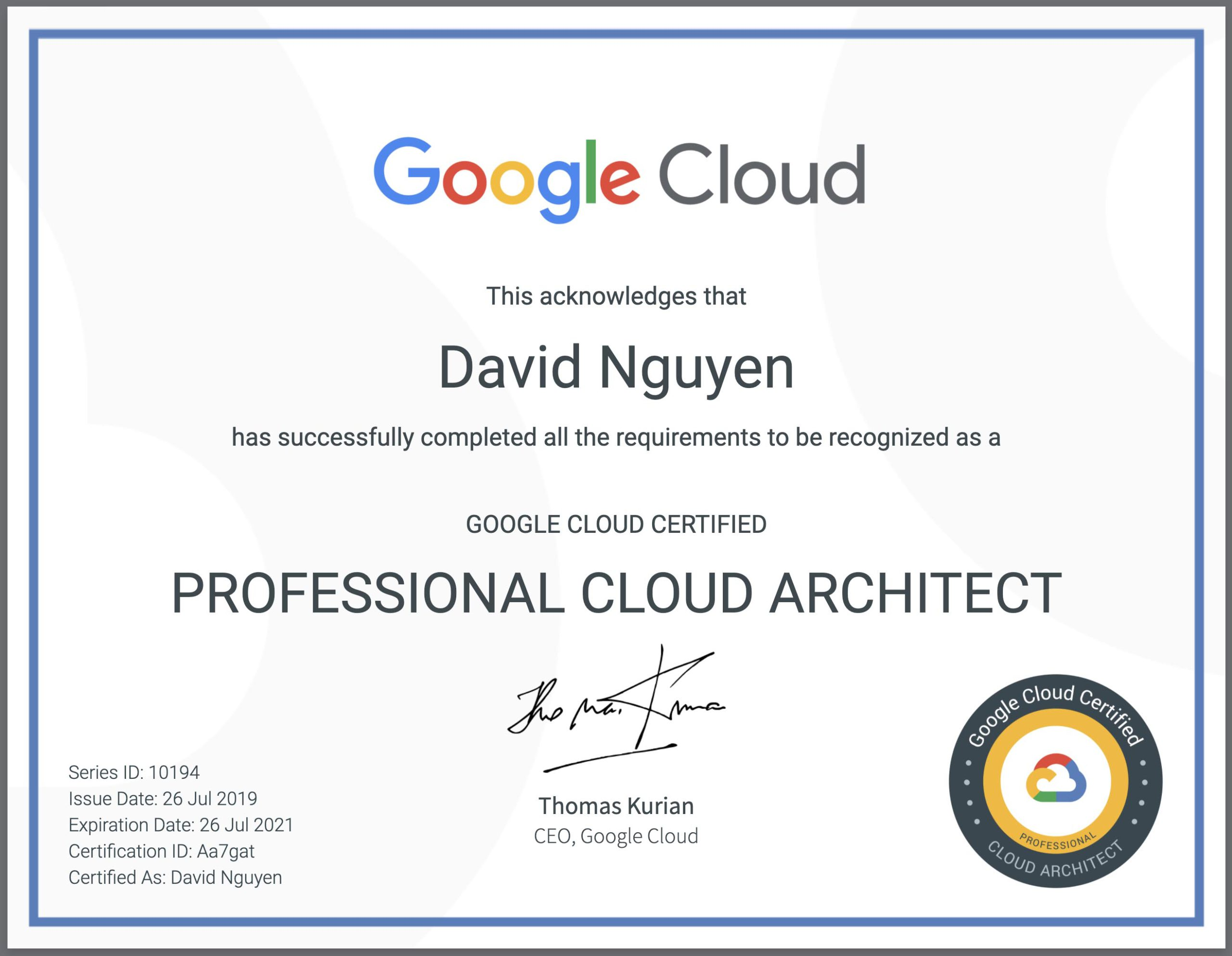 Official Google Cloud Certified Professional Cloud Architect