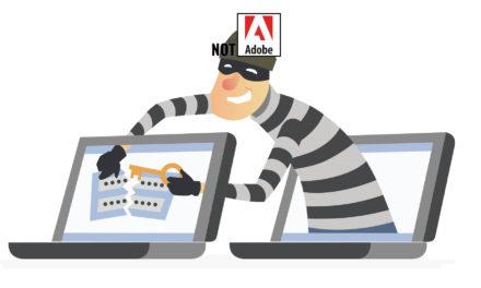 Phishing Attack Impersonating Adobe