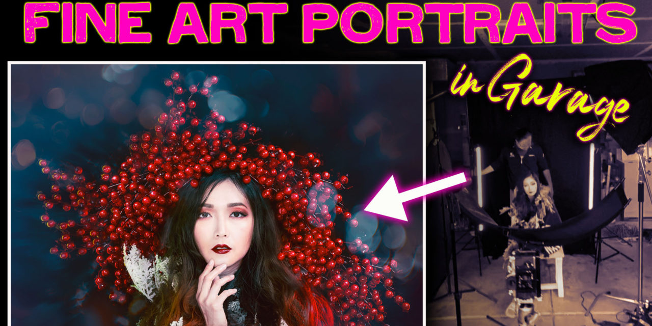 How to photograph fine art photoshoot in garage