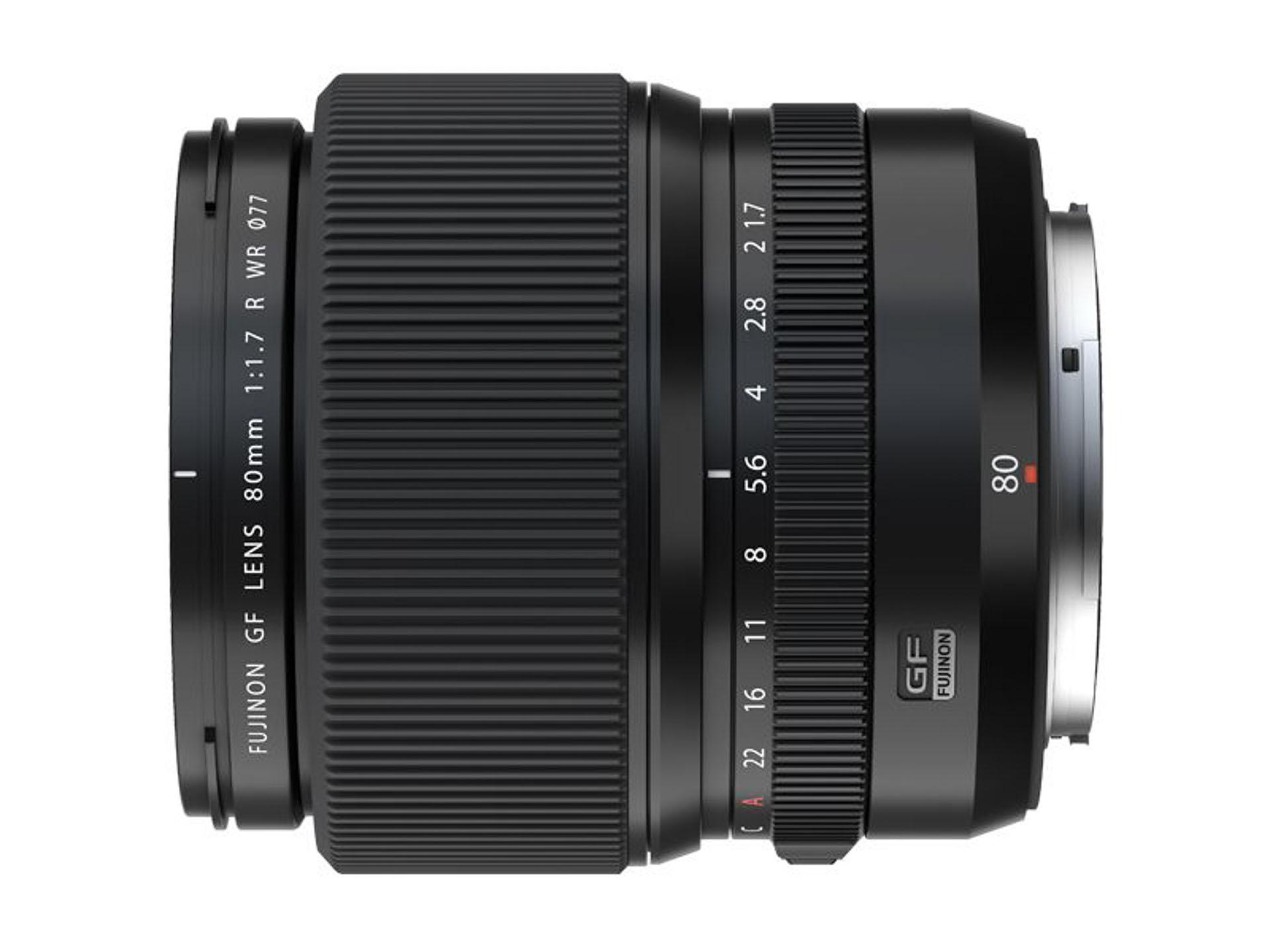 GF80mm f1.7 side view