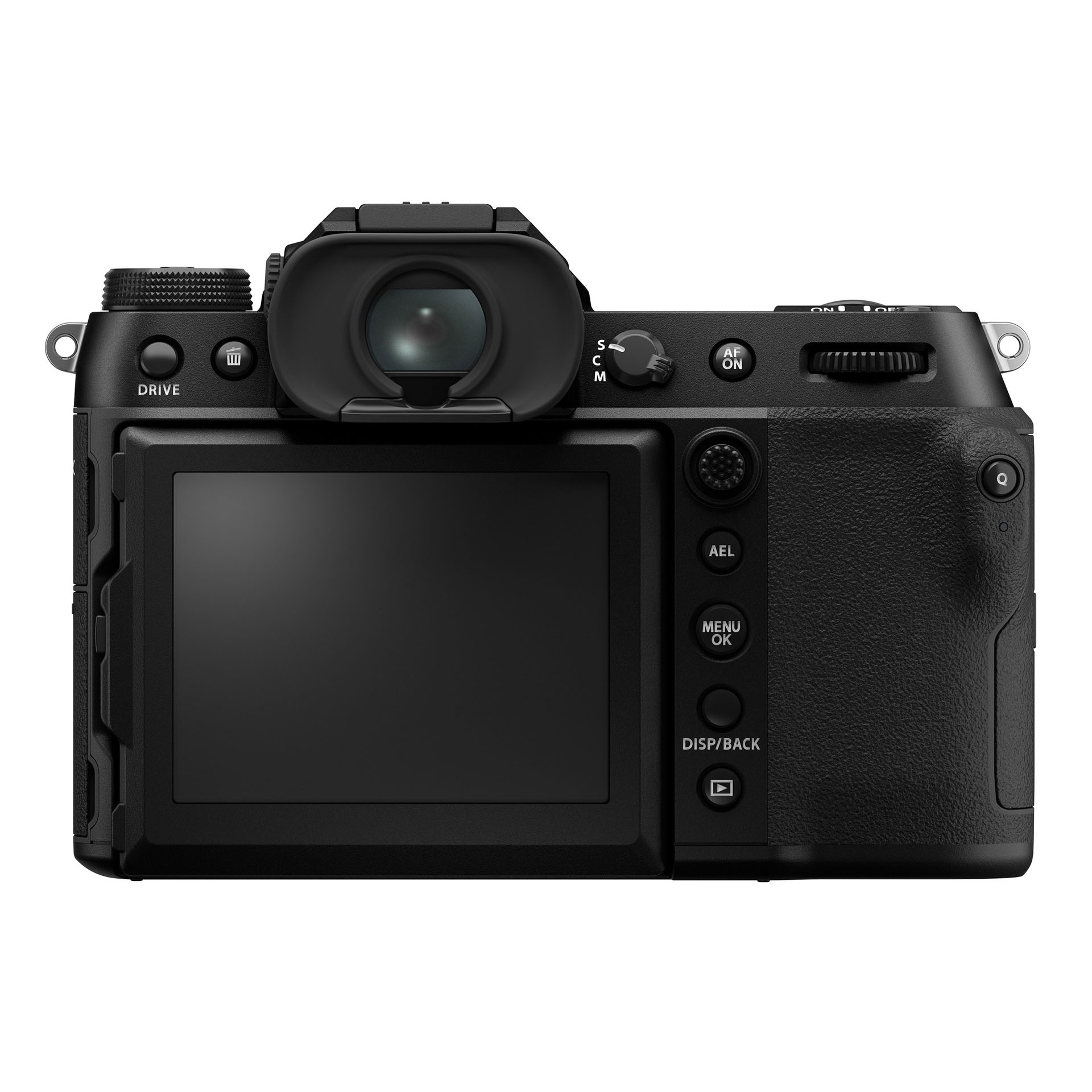 Fujifilm GFX100s back LCD and viewfinder